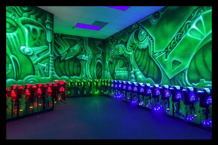 indoor laser tag vesting room